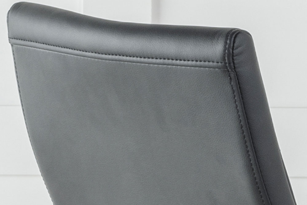 Malibu Black Faux Leather Dining Chair