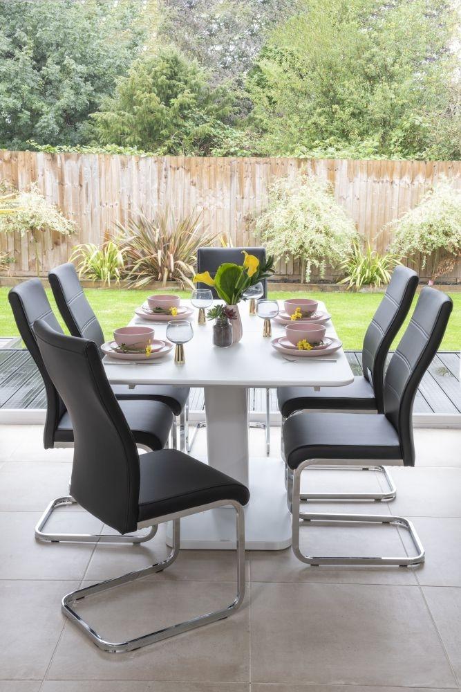 Urban Deco Malibu Black Faux Leather Swing Dining Chair