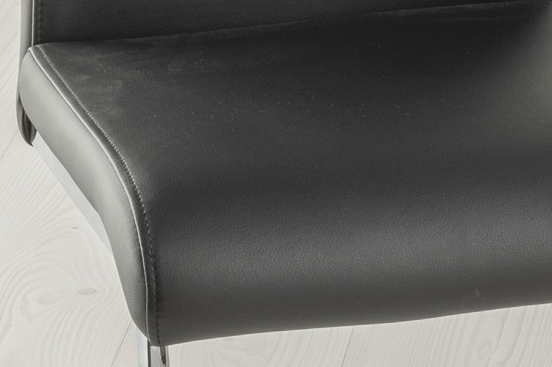 Urban Deco Malibu Black Faux Leather Swing Dining Chair