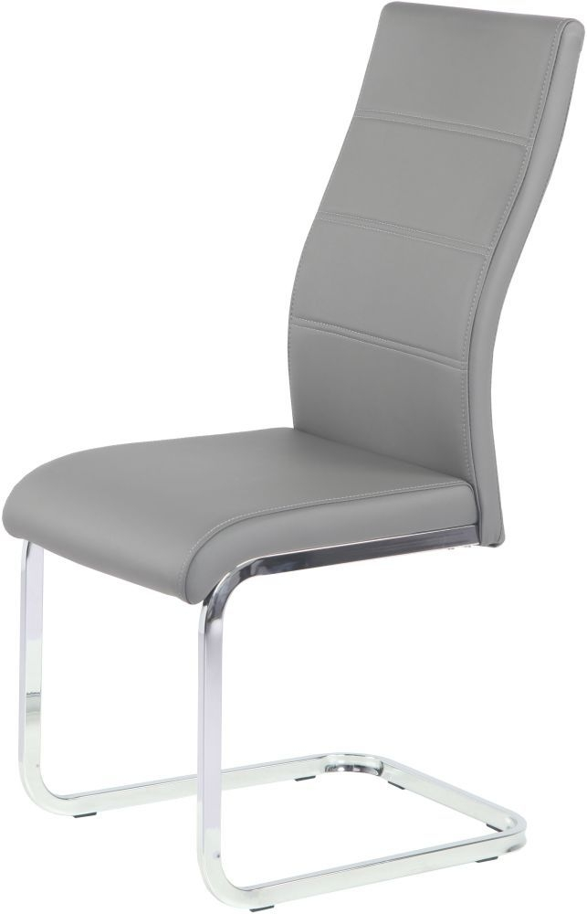 Urban Deco Malibu Grey Faux Leather Swing Dining Chair (Pair)