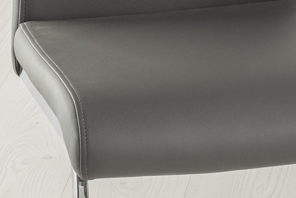 Urban Deco Malibu Grey Faux Leather Swing Dining Chair