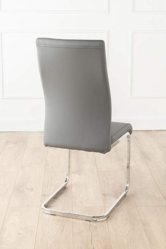 Urban Deco Malibu Grey Faux Leather Swing Dining Chair