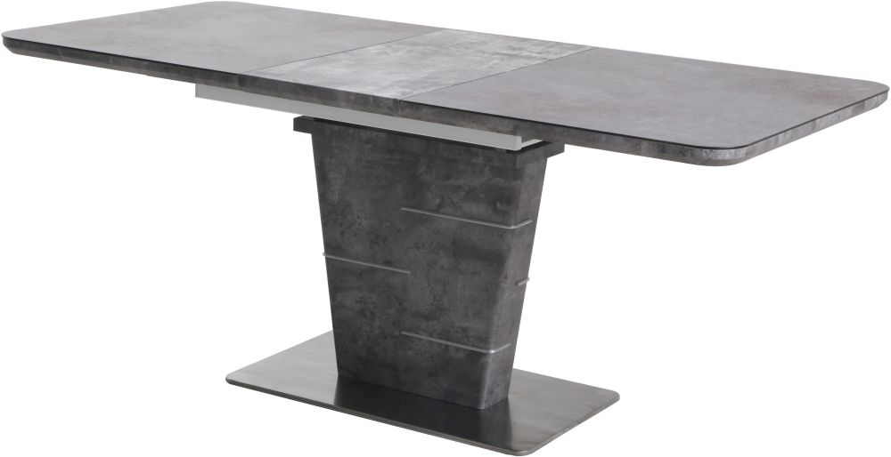 Urban Deco Rimini Extending Grey Dining Table