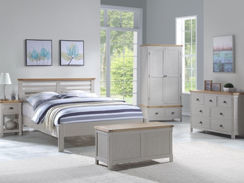 Glenbrook Bed - Oak and Grey Painted