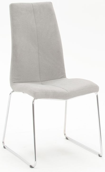 Clearance Half Price - Vida Living Evoque Grey Fabric Dining Chair (Pair) - New - T104