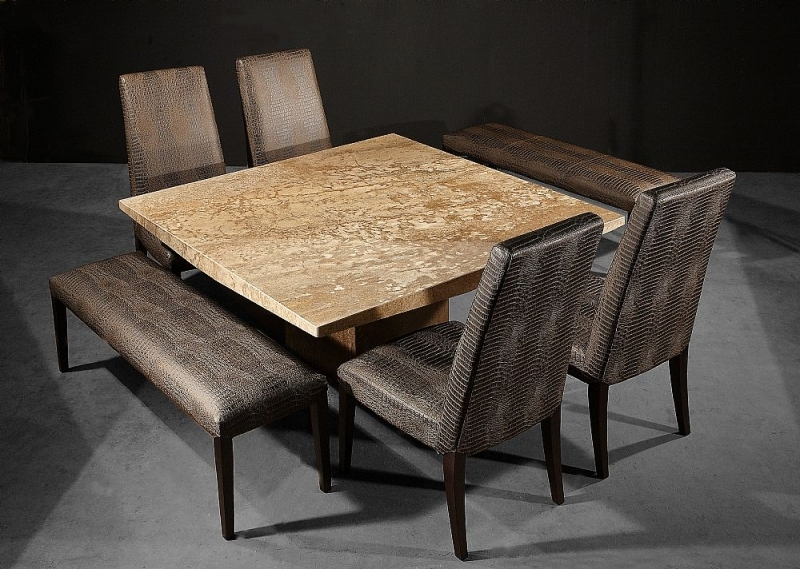 Clearance Half Price - Stone International Juliette Embossed Brown Crocodile Leather Dining Chair (Pair) - New - T116