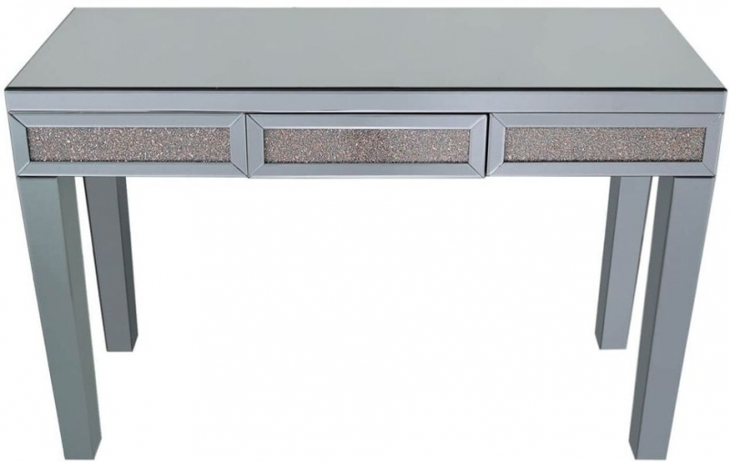 Clearance Half Price - Naro Console Table - Smoked Mirrored and Copper - New - Z1082