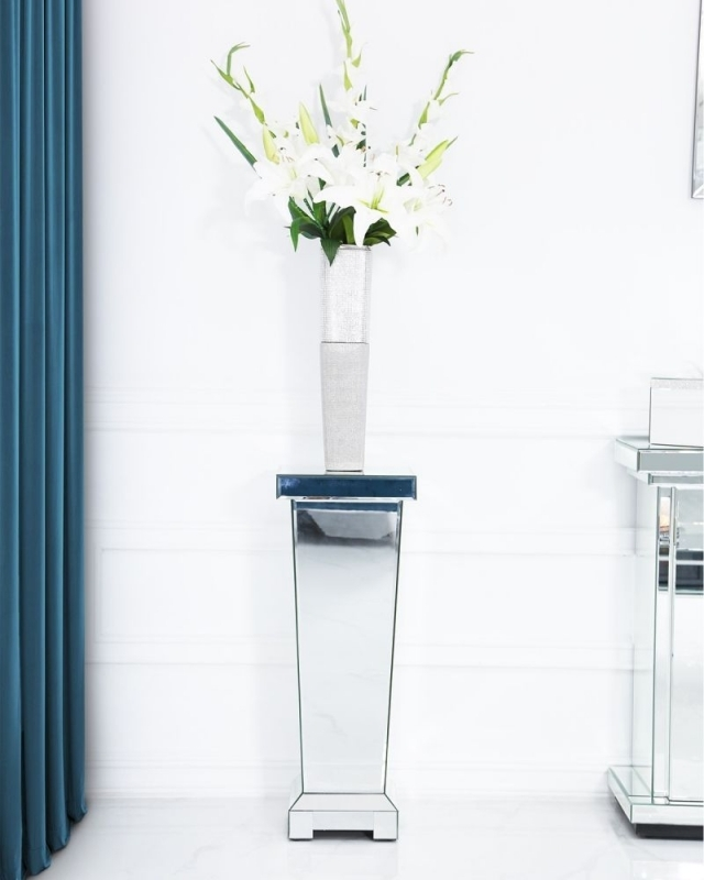 Clearance Half Price - Paolo Mirrored Small Pedestal - New - Z1087