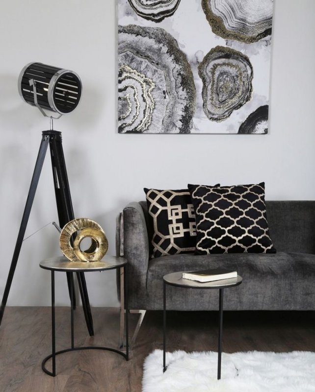 Soham Black and Nickel Nest of Tables