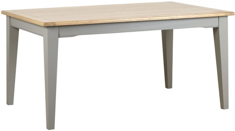 Mark Webster Waterford Dining Table and 4 Chairs - Oak and Grey