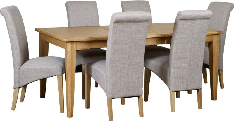 Mark Webster Westport Oak Extending Dining Table and 4 Darcy Chairs