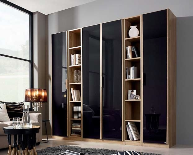 Clearance Half Price - Rauch Essensa 2 Door Wardrobe in Sonoma Oak with Chrome Color Short Handle - New - 89867