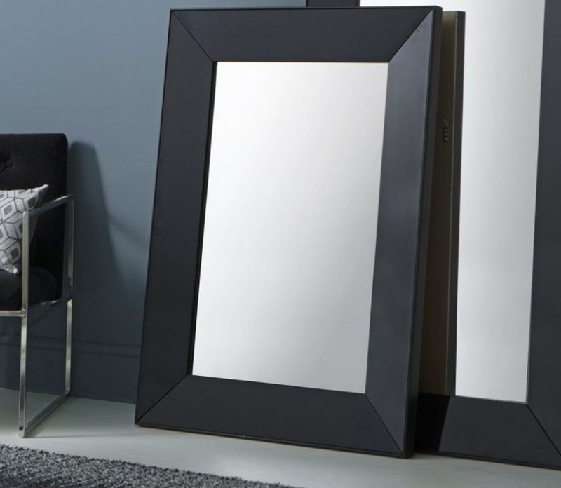 Gallery Direct Vasto Black Rectangular Mirror - 91cm x 121cm