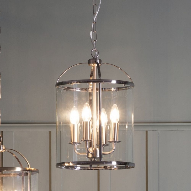 Gallery Lambeth Satin Nickel 4 Pendant Light