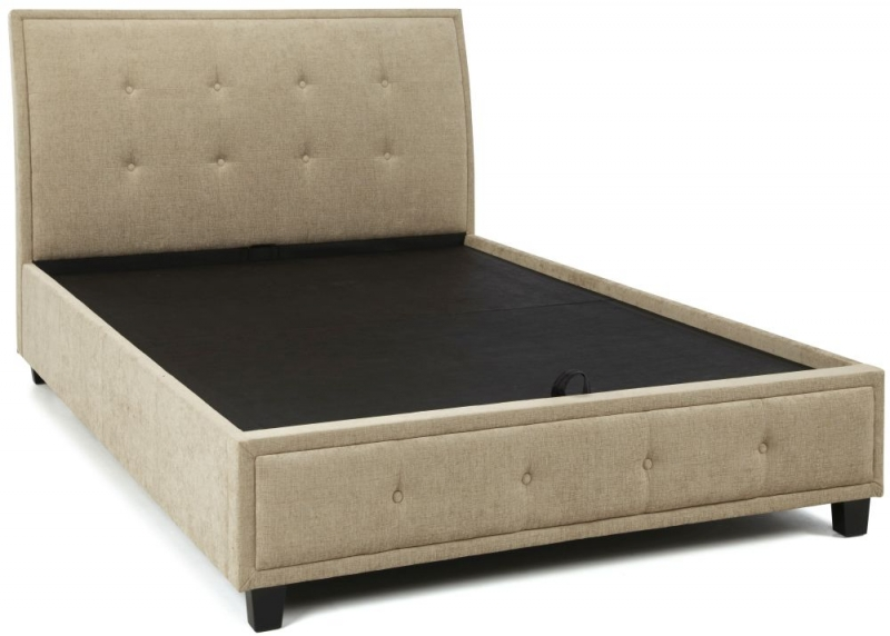Serene Wesley Mink Fabric 4ft 6in Double Ottoman Bed
