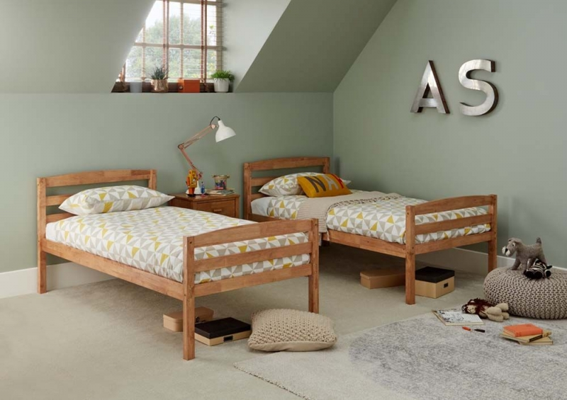 Serene Brooke Honey Oak 3ft Twin Bunk Bed