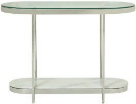 Serene Keira Console Table - Glass and Chrome