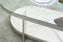 Serene Lola Nest of Table - Glass and Chrome