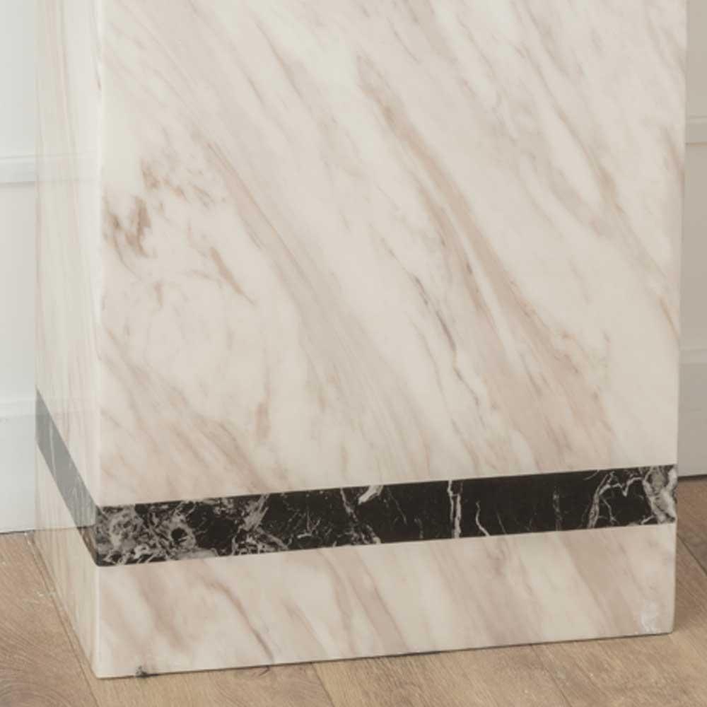 Urban Deco Rome Cream Marble Console Table