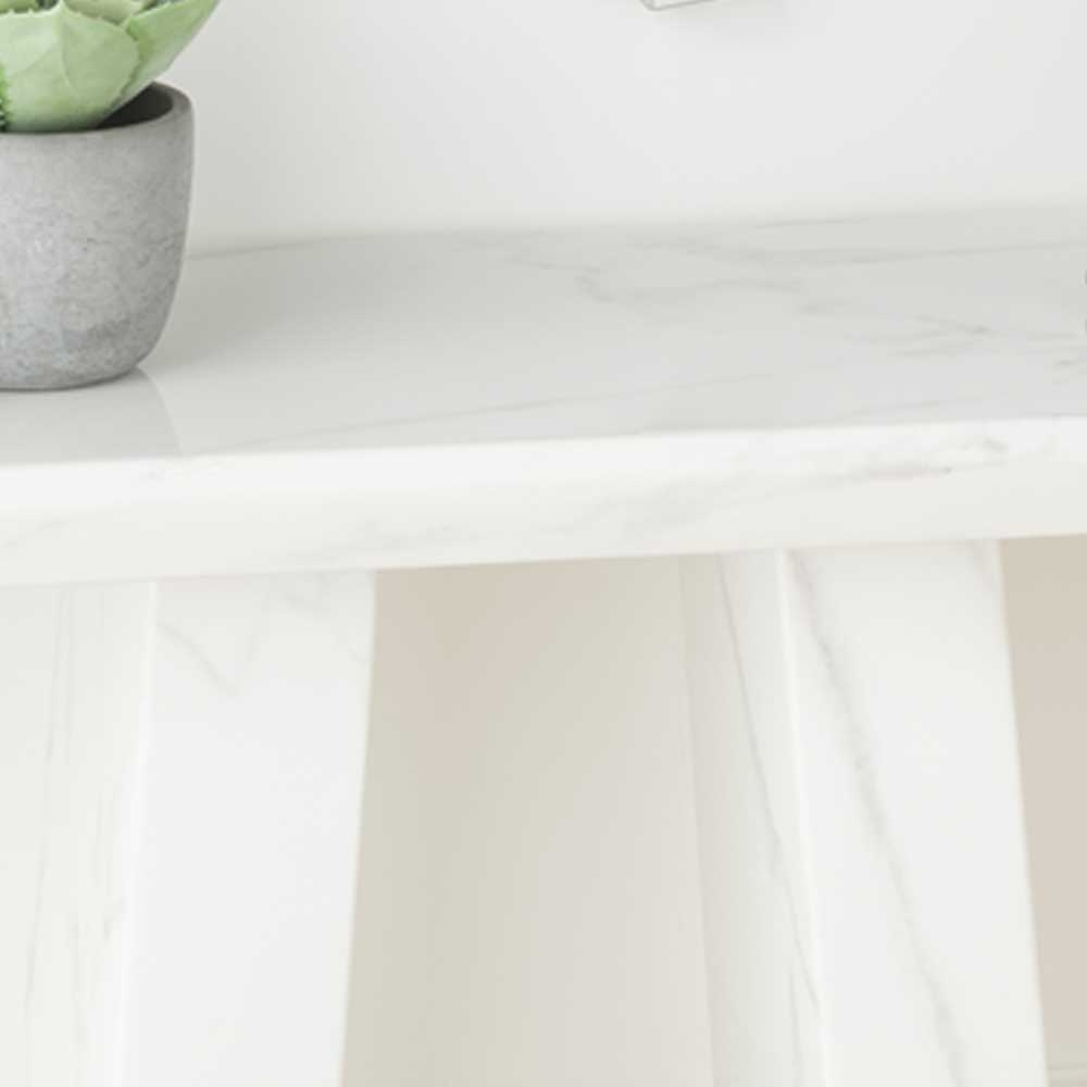 Urban Deco Milan White Marble Console Table