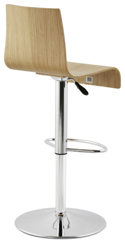 Freeden Natural Stainless Steel Gas Lift Bar Stool - (Pair)