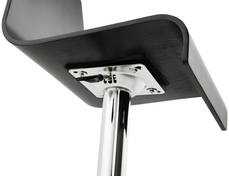 Blisco Black Stainless Steel Gas Lift Bar Stool - (Pair)