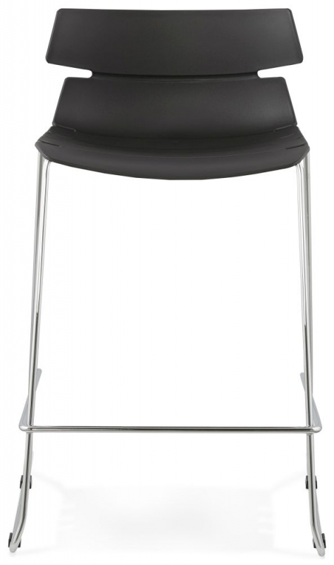 Blisco Black Stainless Steel Small Bar Stool - (Set of 4)