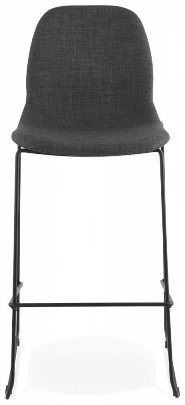 Arzene Dark Grey Painted Steel Bar Stool