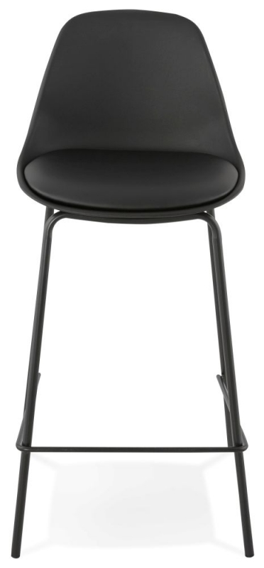 Eman Mini Black Painted Steel Snack Bar Stool - (Pair)