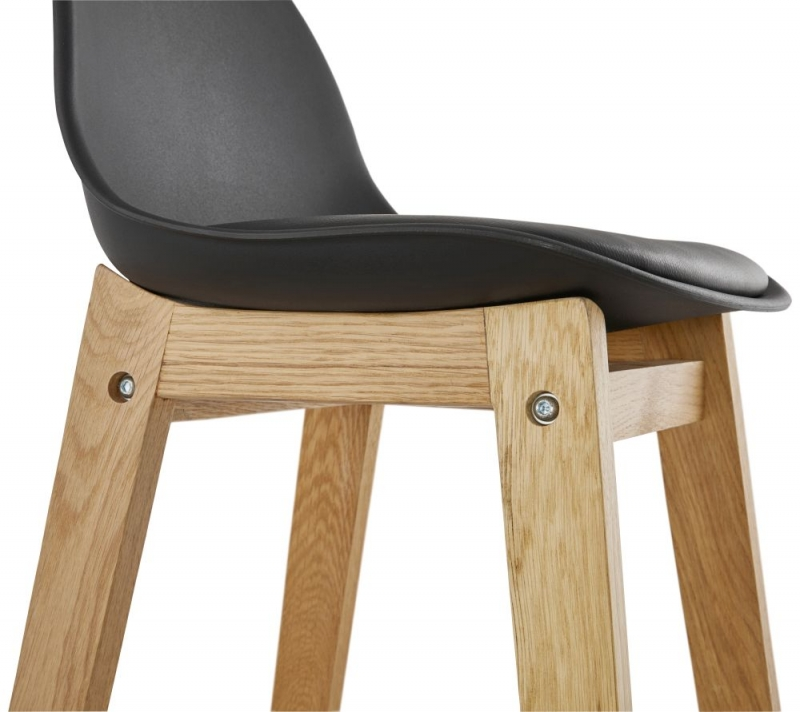 Colby Mini Black and Oak Snack Bar Stool - (Pair)