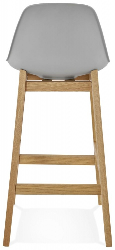 Colby Mini Grey and Oak Snack Bar Stool - (Pair)