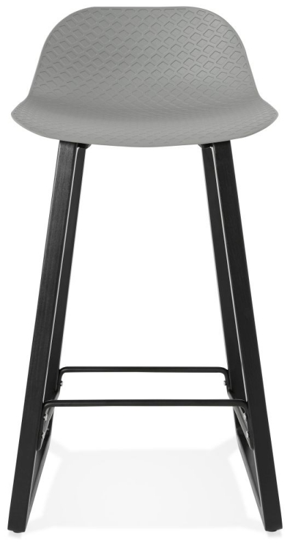 Adelia Mini Grey and Beech Snack Bar Stool