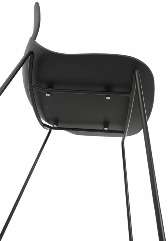 Ernan Mini Black Painted Steel Snack Bar Stool