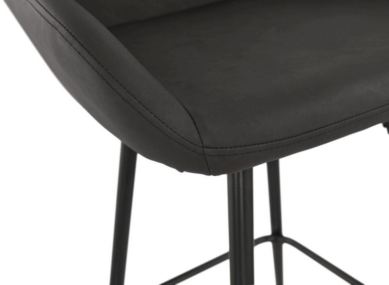 Radway Mini Dark Grey Painted Steel Snack Bar Stool - (Pair)