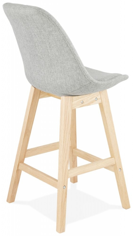Latrigg Mini Grey and Natural Oak Snack Bar Stool