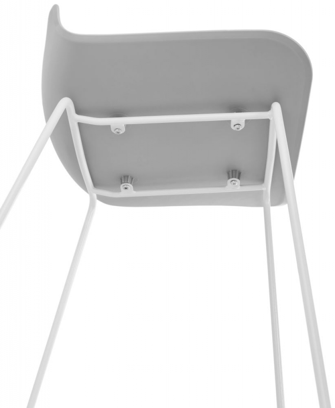 Barra Mini Grey and White Steel Snack Bar Stool