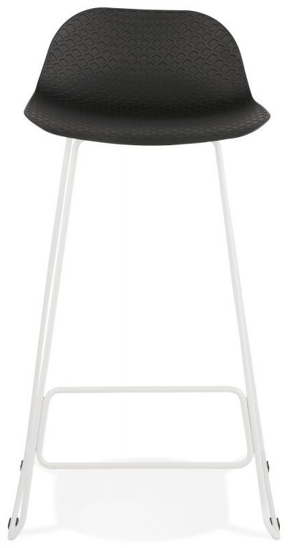 Barra Black and White Steel Bar Stool