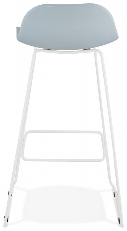 Barra Blue and White Steel Bar Stool