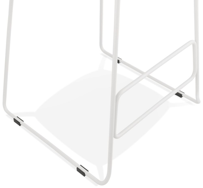 Barra Pink and White Steel Bar Stool