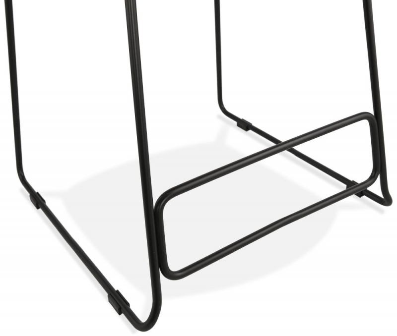 Barra Mini Black Painted Steel Snack Bar Stool