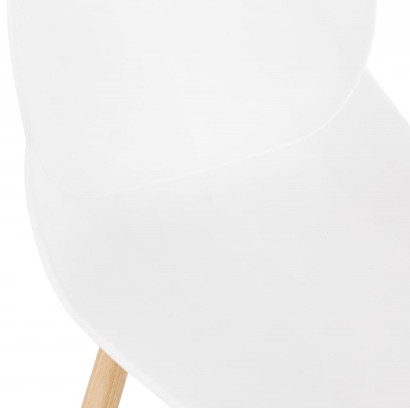 Ettore Mini White and Natural Snack Bar Stool