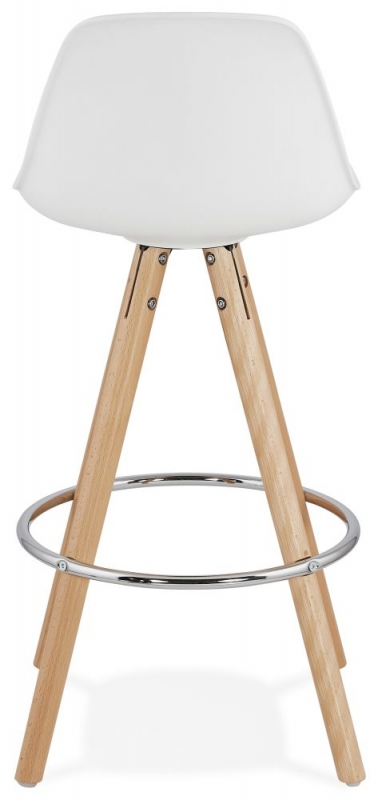 Tralee Mini White and Beech Snack Bar Stool - (Pair)