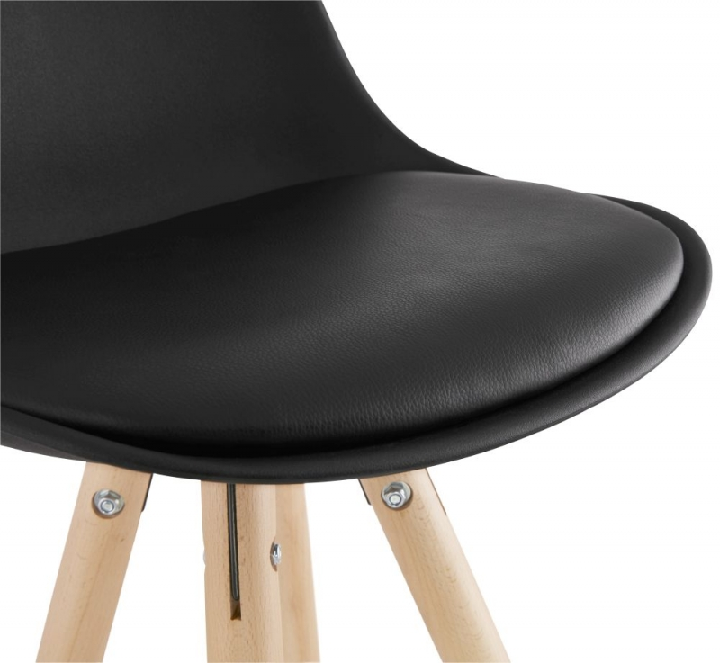 Tralee Mini Black and Beech Snack Bar Stool - (Pair)