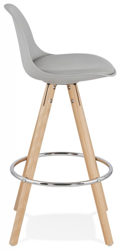 Tralee Mini Grey and Beech Snack Bar Stool - (Pair)