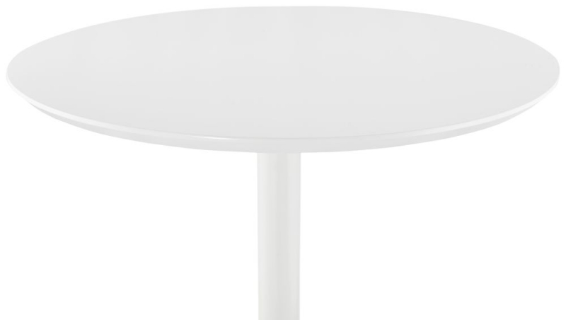 Victoria White Painted Steel Bar Table