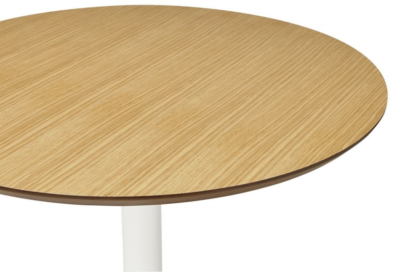 Victoria Natural and White Steel Bar Table
