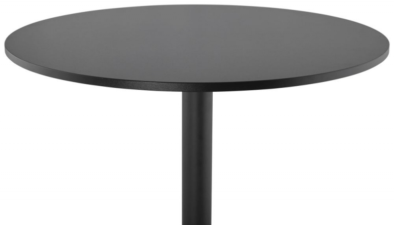 Alix Black Painted Steel Bar Table