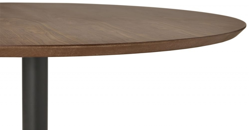 Marcas Walnut and Black Steel Bar Table