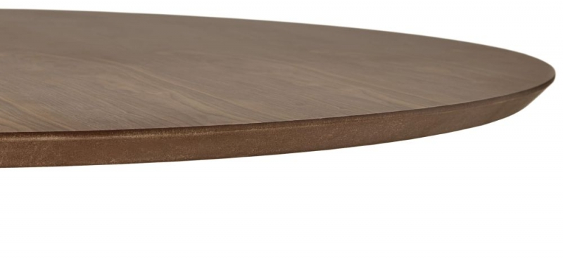 Carinne Walnut Stainless Steel Bar Table