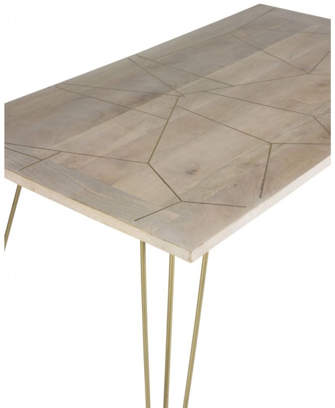 Indian Hub Mango Light Gold Dining Table